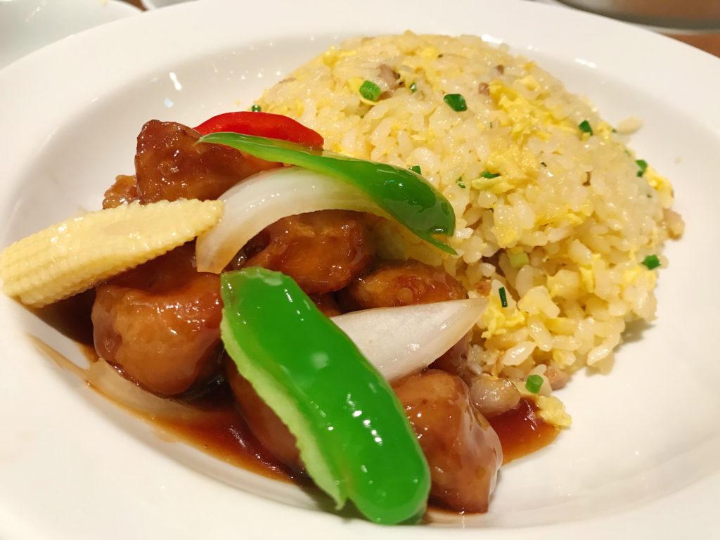 酢豚のせチャーハン